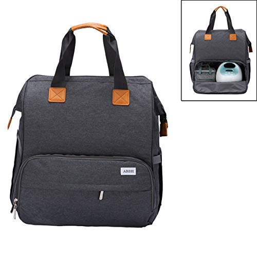 ARSH Breast Pump Bag Compatible for Spectra S1,S2, Medela and Cooler Bag and Laptop, Breast Pump Backpack with Compartments 2 Options for Wearing,Suitable for Working Mothers