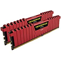 Corsair Vengeance LPX 16GB 2x8GB DDR4 DRAM 2666MHz C16 Memory (Red)