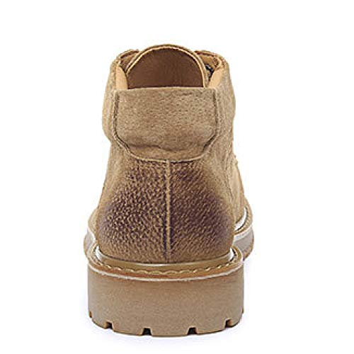 Stivali Stivali Stivali Help Casual Brown Pelle da Vera Vera Vera Uomo Business Stringati Martin High Stivaletti Oqt0Z6FwF