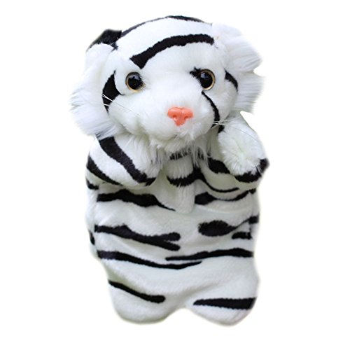 (Brightric Tiger Hand Puppet Magic Forest Series Baby Kids Soft Doll Plush Toy (White))