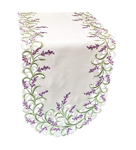 - Galleria di Giovanni Embroidered Table Runner Dresser Scarf 70