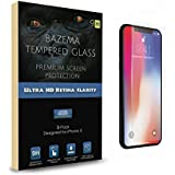 Bazema 3-Pack iPhone X Screen Protector for Apple iPhone X Strong 9H Tempered Glass with Retina Transparent Clear Touch Technology Screen