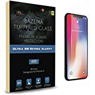 [Sponsored]Bazema 3-Pack iPhone X Screen Protector for Apple iPhone X Strong 9H Tempered Glass...