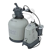Intex 120V Krystal Clear Sand Filter Pump & Saltwater System CG-28679 with E.C.O. (Electrocatalytic Oxidation) for Above Ground Pools