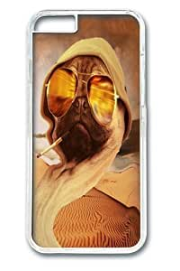 For LG G3 Case Cover -Fear Pug Custom PC Hard For LG G3 Case Cover Transparent