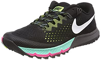 Nike Mens Zoom Terra Kiger 4 Trail Running Shoes Black/White/Volt 880563-001 Size 8