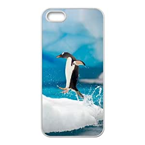 Penguin Jumping onto the Ice iPhone 5,5S Case For Women, Case For Iphone 5s For Women [White]
