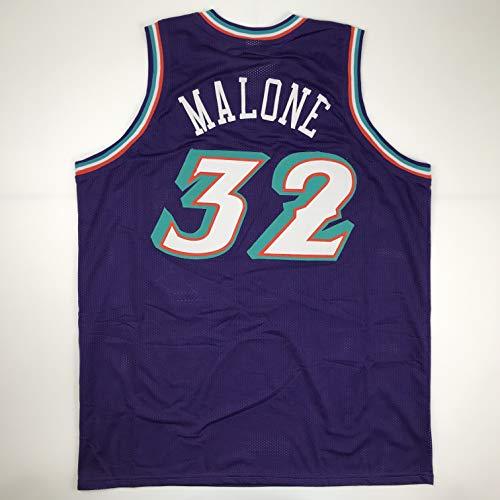 - Unsigned Karl Malone Utah Purple Custom Stitched Basketball Jersey Size Men's XL New No Brands/Logos