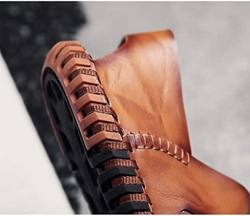 YCKZZR leren sandalen voor heren, maat 38-44), geel bruin, 43