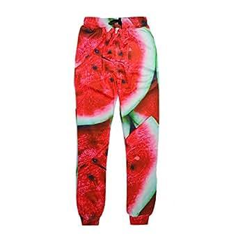 Cool joggers Print Watermelon Sport sweatpants for men/women hip hop trousers (M)