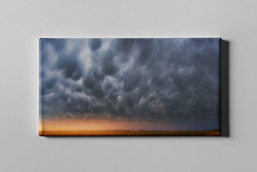 Epic Graffiti Mammatus Over Madrid by Darren White Giclee Canvas Wall Art, 20'' x 40'' by Epic Graffiti