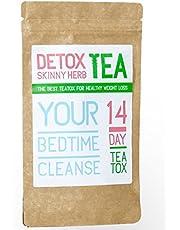 14 Days Bedtime Cleanse Tea : Detox Skinny Herb Tea - Effective Detox Tea, Support Natural Weight Loss Tea, 100% Natural