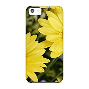 HKJVejJ3025mSium JohnRDanie Awesome Case Cover Compatible With Iphone 5c - Yellow Color Flowers