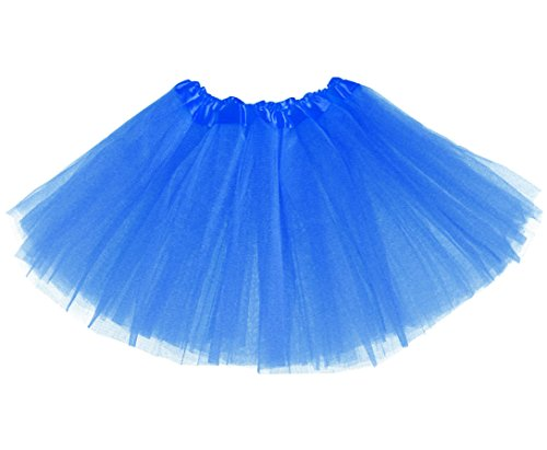 [Girls Classic Elastic 3 Layered Tutu Ballet Soft Tulle Costume Skirt (2 - 9 Years, Classic-Navy)] (Tutu Ballet Costumes)