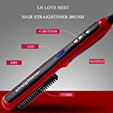 LN LOVE NEST Hair Straightener Brush Curling Brush