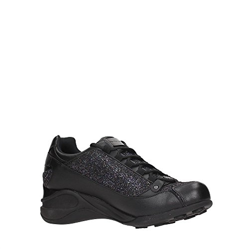 FORNARINA zapatos zapatillas de deporte de las mujeres acuñan PE17SE8922V000 NEGRO talla 36 NEGRO 489JKDlVkz