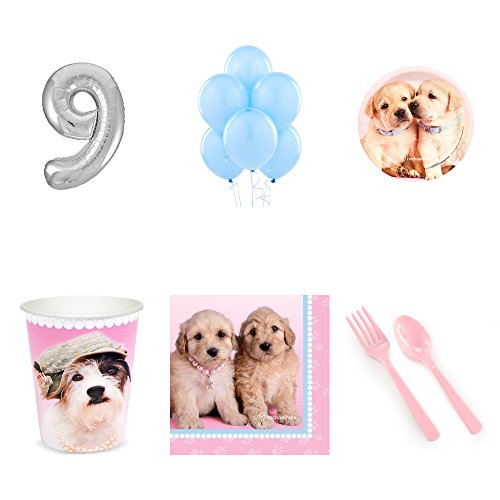- Rachael Hale Glamour Dogs 9th Birthday Party Supplies Pack for 24