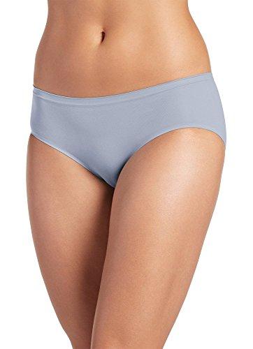 Jockey Women's Underwear Seamfree Air Hipster, Steel Gray, (Wash Hipster Jean)
