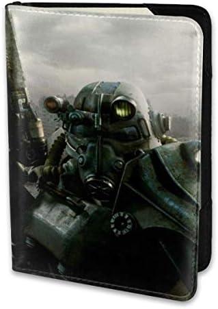 Fallout 3 フォールアウト パスポートケース メンズ 男女兼用 パスポートカバー パスポート用カバー パスポートバッグ 小型 携帯便利 シンプル ポーチ 5.5インチ高級PUレザー 家族 国内海外旅行用品