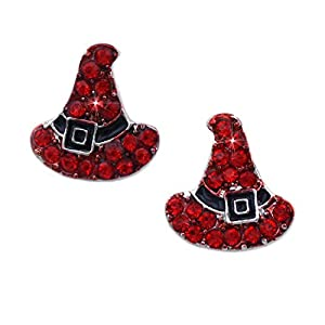 cocojewelry Witch Wizard Hat BOO Earrings Halloween Costume Jewelry