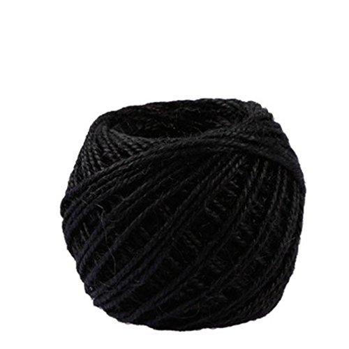 (DIY Hemp Rope,New 40m Meters/Roll Jute String Hemp Rope For Bracelet Necklace Decor (black))