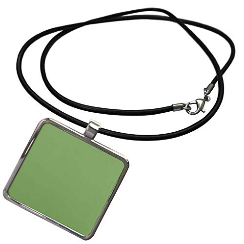 (3dRose Kultjers Colors - Color Asparagus - Necklace with Rectangle Pendant (ncl_317411_1) )