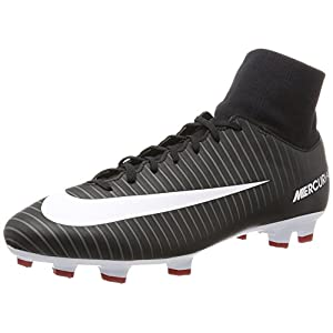 Nike Men's Mercurial Victory VI DF FG Black/White Dark Grey Soccer Cleat 10 Men US