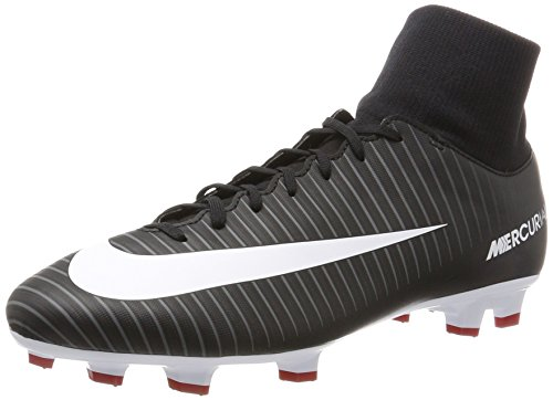 online store 67664 ec36f NIKE Mercurial Victory VI Dynamic Fit FG Cleats [Black] (7)