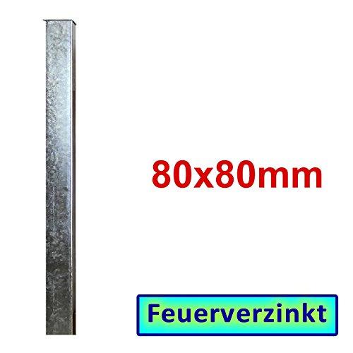 Zaun- Torpfosten VZ zum Einbetonieren BAUER 80x80x3mm L = 1300mm