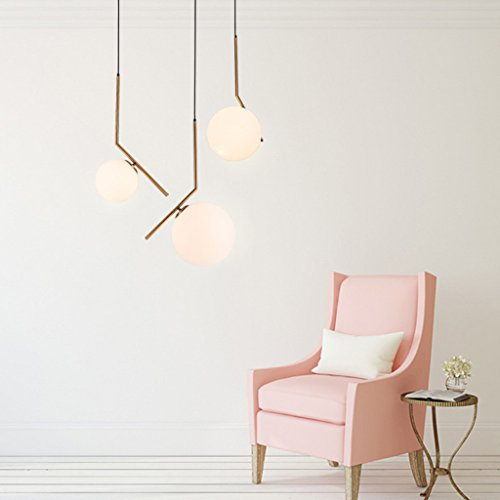 Wsxxn Luxury Creative Chandelier with Nordic Pendant Light, Personalized Bedside Candelabra and Mini Bedside Lamps Pendant Lighting Lantern Lamps (Size : Diameter 20cm) by Wsxxn (Image #2)