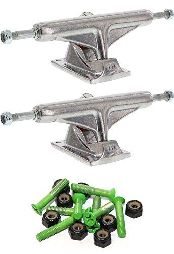 微視的トラブルスカイTensor Trucks アルミニウム 5.25インチ スケートボード トラック 1インチ グリーン取付金具付き