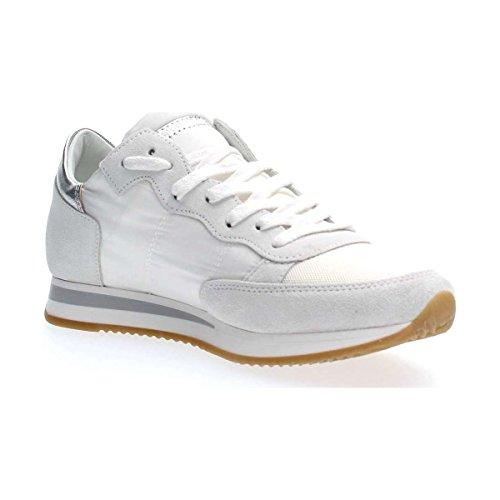 Trld Model Colore Argento Bianco Tela In Tropez E Donna Tallone 1120 Philippe Sneaker Pelle Mod OdCppqzw