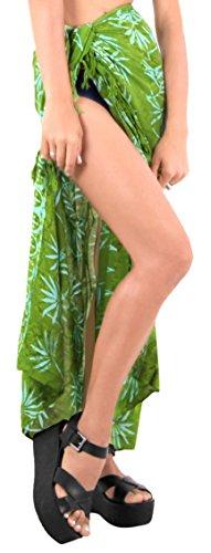ropa de playa envoltura de baño del juego de falda pareo encubrimiento del traje de baño de las mujeres del desgaste de la piscina pareo ropa de playa traje de baño verde oscuro