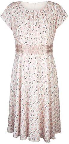 MONA Kurzarm Kunstfaser Kleid