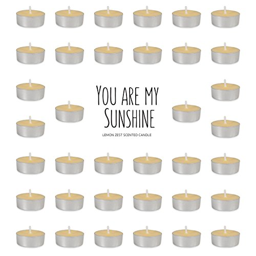 (Home Traditions Highly Scented Tealight Candle (Pack of 36) For Home Décor, Wedding, Party, Holiday, Spa & Aromatherapy - You Are My Sunshine)