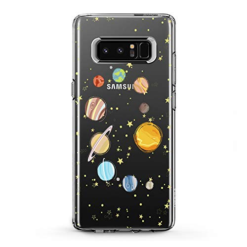 Lex Altern TPU Case for Samsung Galaxy J7 MAX Prime J6 Plus J5 J4 J3 Parade of Planets Gift Earth Flexible Design Print Soft Solar System Cover Smooth Universe Slim fit Stars Clear Lightweight Sun