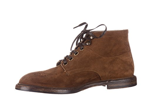 Dolce&Gabbana bottines demi-bottes homme en daim washwood marron