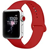 ENANYN Compatible Apple Watch Band 38mm 40mm 42mm 44mm Soft Silicone Sport Wrist Strap iWatch Replacement Bracelet Wristbands for Apple Watch Series 4,3,2,1 of Size S/M,M/L