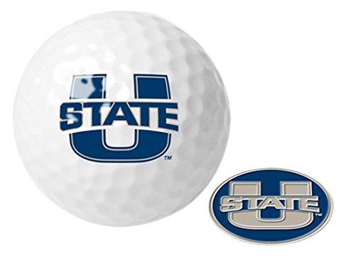 NCAAユタ州立大学 – ゴルフボール1パックwithマーカー B0069IIJAK