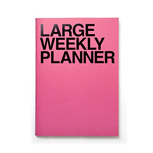 (JSTORY Large Weekly Planner Wide Spaces Undated Eco Friendly Customizable B5 54 Weeks 28 Sheets Pink )