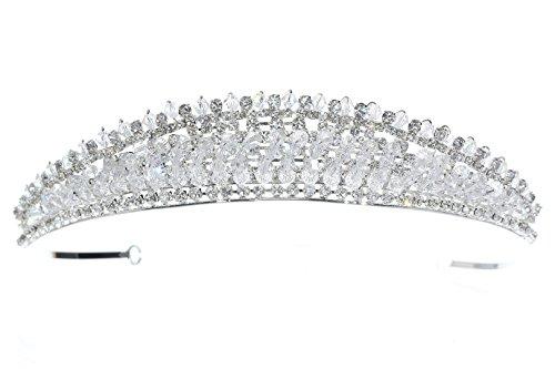 Radiant Rhinestone Crystal Beads Bridal Tiara Crown T1198 ()