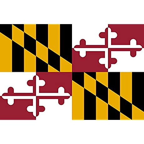 MagFlags Large Flag Maryland Landscape Flag 1 35m 14 5sqft 90x150cm 3x5ft 100 Made In Germany Long Lasting Outdoor Flag