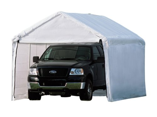 1 Outdoor Enclosure - ShelterLogic MaxAP 2-in-1 Canopy with Enclosure Kit, White, 10 x 20 ft.