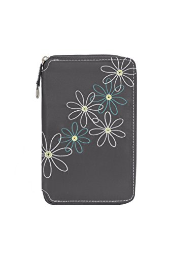 Travelon Safe Id Daisy Family Passport Case, Pewter