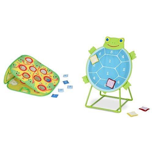 Melissa & Doug Sunny Patch Beanbag Toss & Target Game Bundle (Bean Bag Target Toss Game)