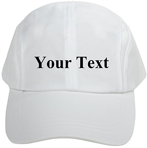 Personalized Unisex Breathable Quick Dry Adjustable Sports Baseball Cap White by AshopZ