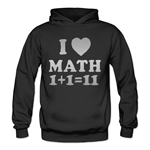 Funny Joke Gift Love Math Classic Women's Hooded Hoodies Black XXL]()