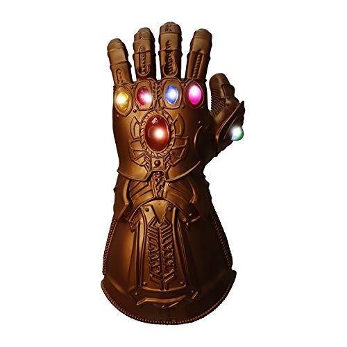 Pvc Gauntlet - Waylike Infinity Gauntlet LED Light Up PVC Glove Cosplay Prop Costume
