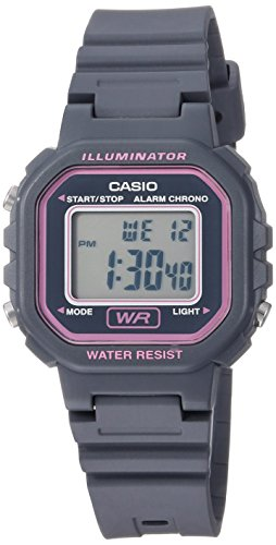 Casio Women's Classic Quartz Watch with Resin Strap, Grey, 15.8 (Model: LA-20WH-8ACF