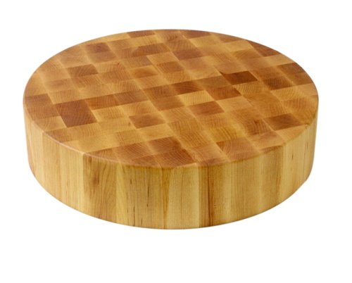 John Boos Block CCB18-R Classic Collection Maple Wood End Grain Round Chopping Block, 18 Inches...